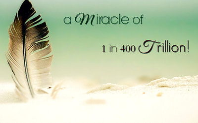 You are a miracle of 1 in 400 trillion!